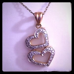 Silver & Gold Heart Necklace
